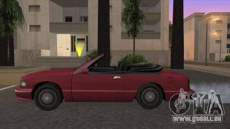 Premier Cabrio pour GTA San Andreas laissé vue