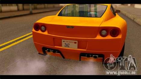 GTA 5 Dewbauchee Super GT für GTA San Andreas Rückansicht