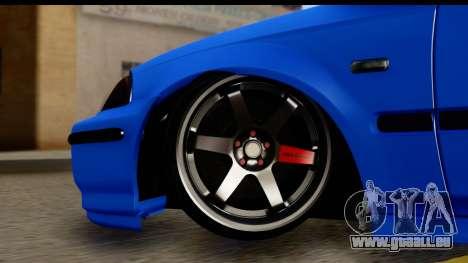 Honda Civic Hatchback pour GTA San Andreas vue arrière
