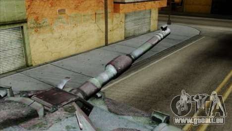 M1A2 Abrams Woodland Blue Camo pour GTA San Andreas vue de droite