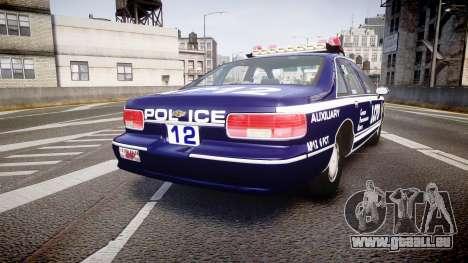 Chevrolet Caprice 1993 LCPD WH Auxiliary [ELS] pour GTA 4 Vue arrière de la gauche