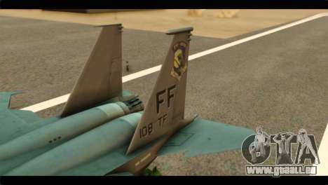 McDonnell Douglas F-15E Strike Eagle pour GTA San Andreas sur la vue arrière gauche