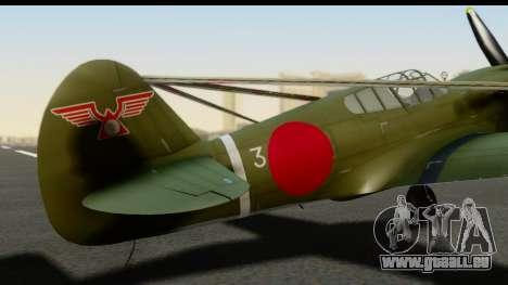 P-40E Kittyhawk IJAAF für GTA San Andreas Rückansicht