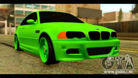 BMW M3 E46 Stock pour GTA San Andreas