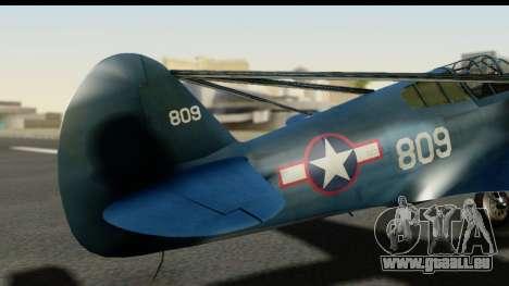 P-40E Kittyhawk US Navy pour GTA San Andreas vue arrière