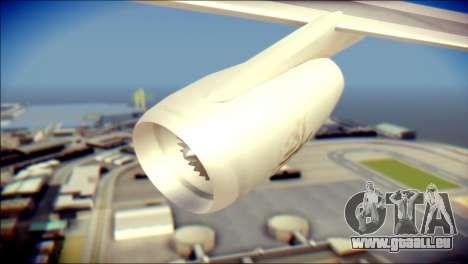 Airbus A340-300 Emirates für GTA San Andreas rechten Ansicht