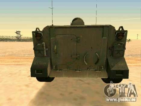 Le M113 Blindés De Transport De Personnel pour GTA San Andreas vue arrière