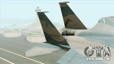 McDonnell Douglas F-15D Philippine Air Force für GTA San Andreas zurück linke Ansicht