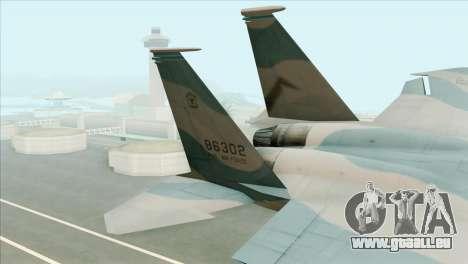 McDonnell Douglas F-15D Philippine Air Force pour GTA San Andreas sur la vue arrière gauche
