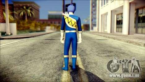 Power Rangers Kyoryu Blue Skin für GTA San Andreas zweiten Screenshot