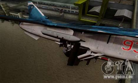 SU-24MP Fencer Blue Sea Camo für GTA San Andreas rechten Ansicht