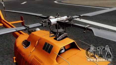MBB BO-105 Basarnas für GTA San Andreas Rückansicht