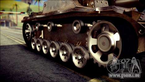 StuG III Ausf. G pour GTA San Andreas vue de droite