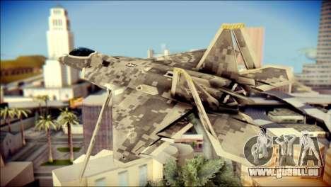 F-22 Raptor Digital Camo pour GTA San Andreas laissé vue