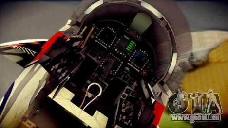 FA-18D Hornet RCAF Tigermeet für GTA San Andreas Rückansicht
