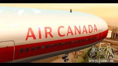 Lookheed L-1011 Air Canada pour GTA San Andreas vue arrière