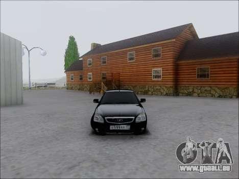 Lada Priora Hatchback pour GTA San Andreas vue arrière