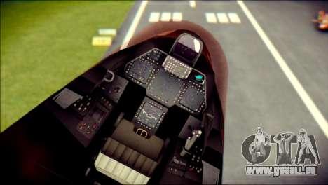 F-22 Raptor G1 Starscream für GTA San Andreas rechten Ansicht
