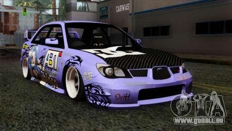 Subaru Impreza WRX STI 5pb Itasha pour GTA San Andreas