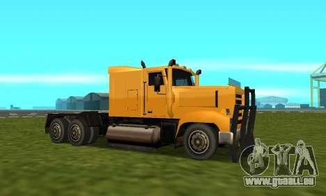 PS2 RoadTrain pour GTA San Andreas vue arrière