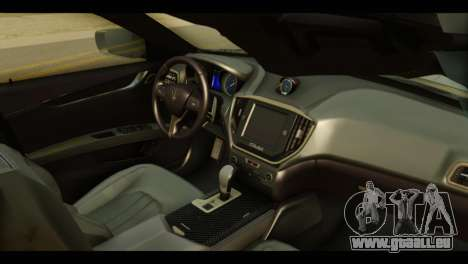 Maserati Ghibli S 2014 v1.0 EU Plate für GTA San Andreas rechten Ansicht