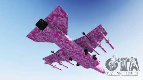 GTA 5 Hydra pink urban camouflage zweite Screenshot