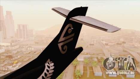 ATR 72-500 Air New Zealand pour GTA San Andreas sur la vue arrière gauche