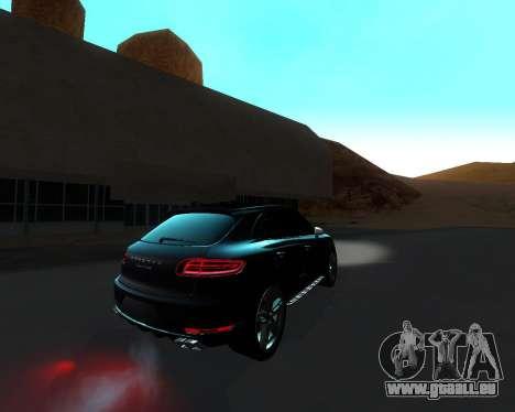 Porsche Macan Turbo pour GTA San Andreas vue intérieure