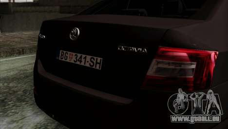 Skoda Octavia Police pour GTA San Andreas vue arrière