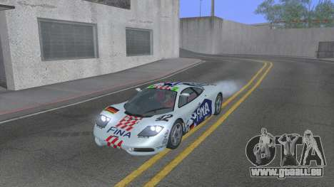 1992 McLaren F1 Clinic Model Custom Tunable v1.0 pour GTA San Andreas salon