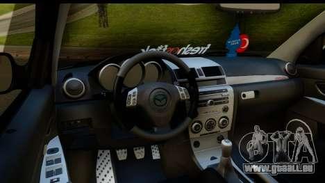 Mazda 3 2008 pour GTA San Andreas vue de côté