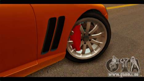 GTA 5 Dewbauchee Super GT für GTA San Andreas zurück linke Ansicht