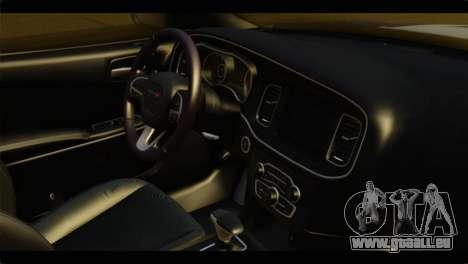 Dodge Charger 2015 Mexican Police für GTA San Andreas rechten Ansicht