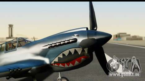 P-40E Kittyhawk US Navy pour GTA San Andreas vue de droite