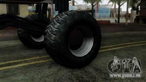 Zastava 1100 Monster pour GTA San Andreas sur la vue arrière gauche