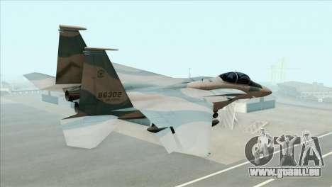 McDonnell Douglas F-15D Philippine Air Force pour GTA San Andreas laissé vue