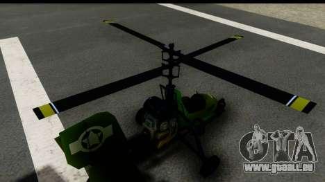 Gyrocopter für GTA San Andreas Rückansicht