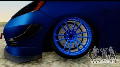Honda Fit 2009 JDM Modification pour GTA San Andreas vue arrière