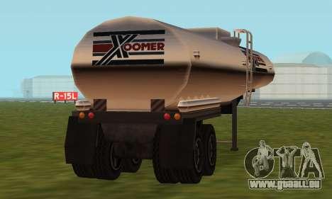 PS2 Petrol Trailer pour GTA San Andreas vue arrière