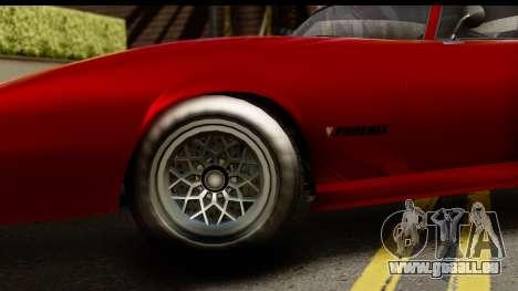 GTA 5 Imponte Phoenix für GTA San Andreas Rückansicht