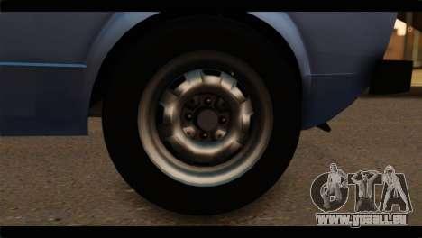 Volkswagen Caddy Mk1 Stock pour GTA San Andreas sur la vue arrière gauche