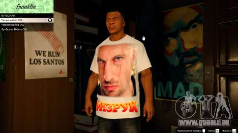 GTA 5 T-shirt for Franklin. - Fizruk