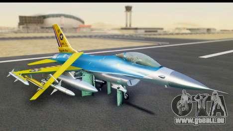 F-16C USAF 111th FS 90th Anniversary pour GTA San Andreas laissé vue