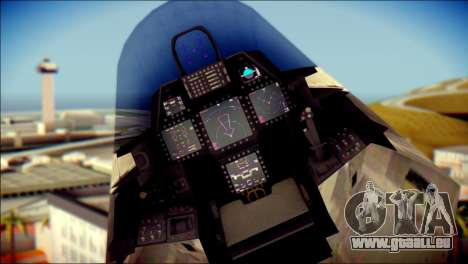 F-22 Raptor Digital Camo pour GTA San Andreas vue de droite