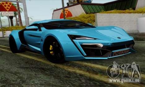 Lykan Hypersport 2014 EU Plate Livery Pack 1 für GTA San Andreas