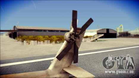 AH64 Apache MOHW für GTA San Andreas zurück linke Ansicht