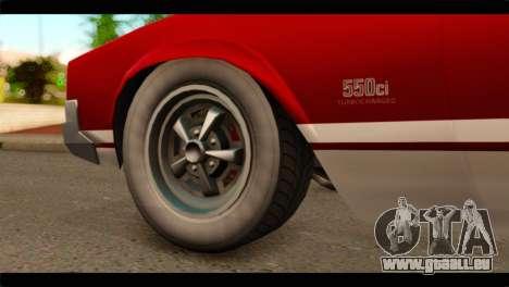 GTA 5 Declasse Sabre GT Turbo pour GTA San Andreas sur la vue arrière gauche