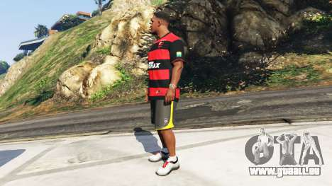 GTA 5 Flamengo T-Shirt - Camisa do Flamengo de 2000-01 deuxième capture d'écran