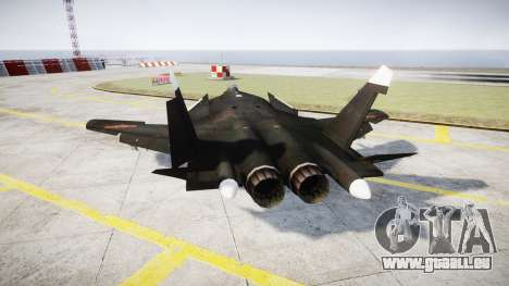 Su-47 Berkut pour GTA 4 Vue arrière de la gauche