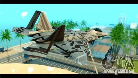F-22 Raptor Starscream pour GTA San Andreas laissé vue